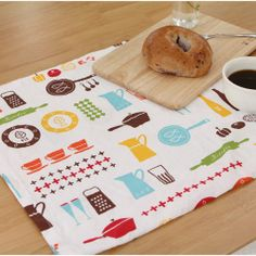Cotton Fabric Kitchen Tools White By The Yard by BestFabric, $12.10