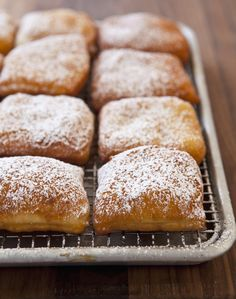 Expanding on the genius ways we can use canned biscuits, here's a recipe for three-ingredient beignets (really!) from executive chef Alex Pirani of Bo's Restaurant in New York.