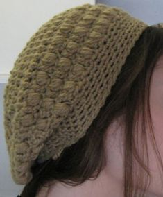 Crocheted Puffy Slouchy Hat Pattern Pixie's Slouch hat