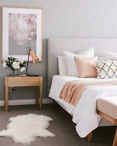 Bedroom design ideas,bedroom decor ideas,grey and pink bedroom