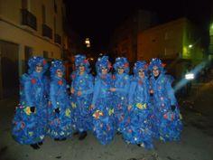 """Disfraz """"Fondo del mar"""". Premio al mejor disfraz colectivo. Sábado, 9 de febrero de 2013"""