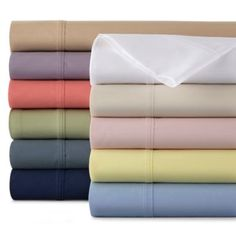 JCPenney HomeTM Easy Care Solid Sheet Set, The Easy Care sheet set offers a perfect balance between easy care and an inviting, ultra-smooth feel. Get these sheets for every bed in the house!