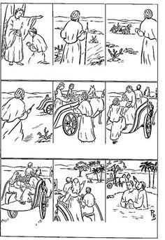 Imagenes para colorear Daniel en el pozo de los leones