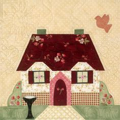 House block. Great machine quilting.  I want to be able to do this.