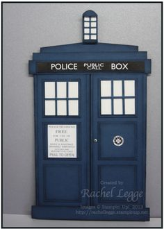 Doctor Who Tardis Birthday card created by Stampin' Up! Demonstrator Katie Legge. Tutorial coming soon.