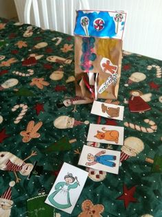 Paper bag gingerbread house story retelling