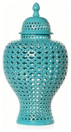 Aquamarine Filigree Urn