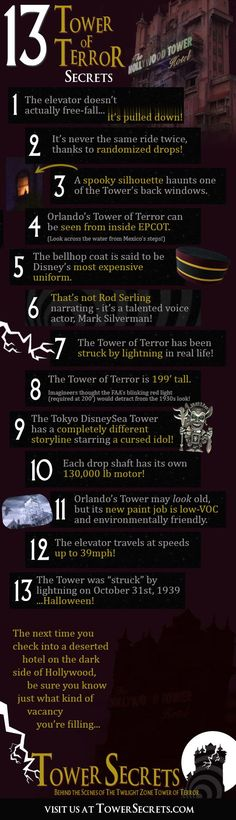 13 fun and spooky secrets about Disney's thrilling Tower of Terror ride