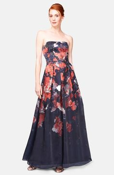 Kay Unger Print Silk Ball Gown available at #Nordstrom