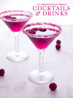 Who said alcoholic drinks can't look AND taste good? We love the Very Pink Raspberry Cosmopolitan.