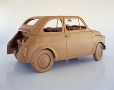 Chris Gilmour. FIAT 500 (detail) cardboard and glue life size 2002-2004