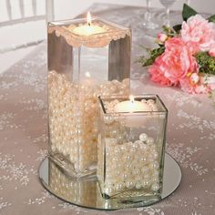 DIY Wedding Centerpieces to surprise your guests, help digit 7088953759 - Exquisite centerpiece tips to organize and produce a very splendid and memorable center piece. diy wedding centerpieces gold help produced on this day 20190409 , Pearl Centerpiece, Diy Centerpieces, Water Beads Centerpiece, Simple Elegant Centerpieces, Centerpiece Flowers, Flowers Decoration, Elegant Table, Cheap Wedding Flowers, Wedding Table Ideas Without Flowers