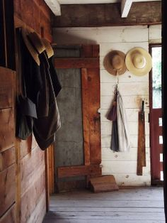 Absolutely LOOOVE the all wood accent wall in this country home