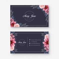 Banners, Garden Floor, Floral Style, Designs To Draw, Floral Watercolor, Landscape Design, Business Cards, Vector Free, Adobe Illustrator