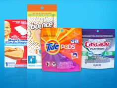 2, Sample Pack for Tide, Cascade, Mr Clean and Bounce!