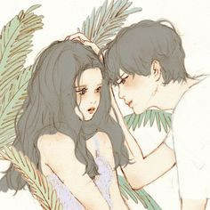 cute, love, and anime image Couple Illustration, Character Illustration, Digital Illustration, Couple Drawings, Art Drawings, Cover Wattpad, Drawn Art, Fanarts Anime, Couple Art