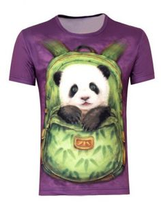 Tribal Feather Panda Head Unisex Boys Girls Print t Shirts