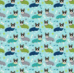 tri colored corgis in pjs fabric cute corgi design best corgi fabric fabric by petfriendly on Spoonflower - custom fabric