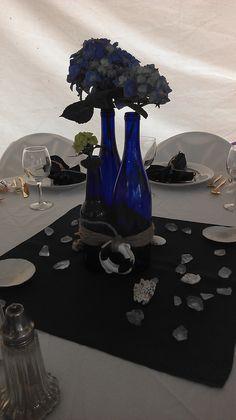 Nautical Centerpiece,   Lauren's bridal shower maybe with white hydrangeas?