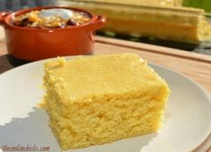 This cornbread isn't loaded with corn, bacon, jalapenos, or anything fancy….but it still will knock your socks off! My hubby officially told me that this cornbread was the best he has ever had….restaurant's included! Woo hoo, right? A few years. 9x13 Baking Pan, Bread Baking, Sweet Cornbread, Cornbread Recipes, Cornbread Muffins, Cornbread Pudding, Cornbread Cake, Buttermilk Cornbread, Homemade Cornbread