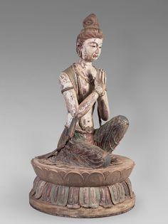 Kneeling Attendant Bodhisattva (From Mogao Cave 328, Dunhuang, Gansu Province)
