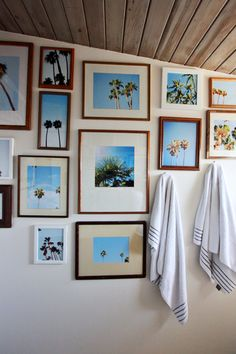 Palm Tree collage wall by Elise Blaha Cripe. So obsessed!