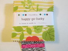 Crazy #cheapfabrics on #eBay, ONLY $2.25 ENDS IN 45 MINUTES! #moda #modafabrics #fabricsales #fabricsonsale #quiltshopfabrics #quilting #sewing #happygolucky #minicharms HAPPY GO LUCKY * Moda * Mini Charm Pack * 2.5 x 2.5 * 42 sq * Cotton Fabric