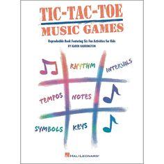 Hal Leonard Tic-Tac-Toe Music Games Reproducible Book Featuring Six Fu