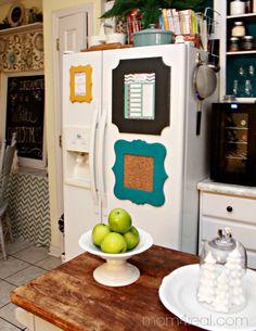 Pretty Frames On Refrigerator