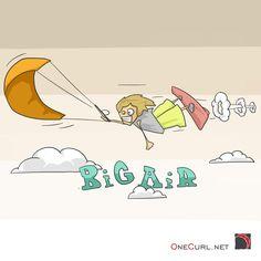 Kitesurfing art by Onecurl  #kiteloop #megaloop #bigair #kiteboarding #picture