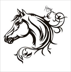 Horse Head Swirly File Download SVG EPS DXF png by HornbacksHouse