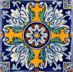 colombian hand painted tile - Google Search