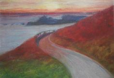 Highway One California   Pastel Painting   If interested, email me @ lamerledeca@gmail.com