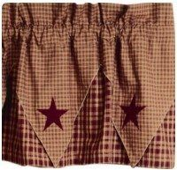 Vintage Star Wine Point Valance by Primitive Home Decors, http://www.amazon.com/dp/B001F0OMYO/ref=cm_sw_r_pi_dp_OBo9qb0QDKXCD
