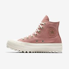 Nike Converse Chuck Taylor All Star Lift Ripple Precious Metal High TopWomens Shoe Pink Converse Outfits, Nike Converse, Converse Style, Converse High, Fab Shoes, Sock Shoes, Me Too Shoes, Shoe Boots, All Star Shoes