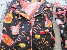 NICK & NORA SLEEPWEAR Pajama's PJS Small Black Champagne Party Birthday NEW YEAR #NickNora #PajamaSets