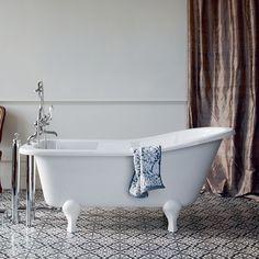 Bath | Burlington Buckingham Freestanding Slipper Bath 1500 x 740cm - White