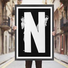Placa decorativa N - StickDecor | Decoração Criativa