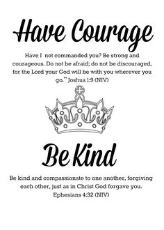 Have Courage Be Kind Printable