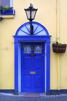Kinsale, County Cork, Ireland.  Any suggestions as to the light and dark blue colors in any of the brands of paint????