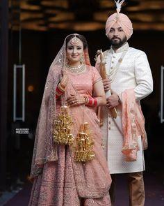 Sikh Wedding Dress, Punjabi Wedding Couple, Indian Wedding Couple Photography, Wedding Girl, Wedding Photography Poses, Wedding Couples, Punjabi Couple, Wedding Bride, Wedding Sherwani