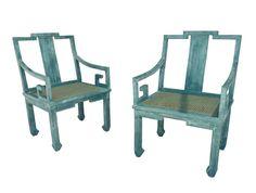 via BKLYN contessa :: ebay :: chinoiserie - hollywood regency chairs with classic greek key pattern :: $1495