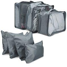 824bbc2c4d28b Navaris set de 7 organizadores para maleta - 7 bolsas para ropa zapatos  lavandería - cubos