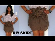 DIY: Long Sleeve Shirts into Skirts (No Sewing) ...Cool tutorial; didn't work very well with the shirt I tried, so I'm gonna try another.