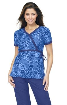 Koi - Cha Cha Cheetah print top.  Have fun this Fall with Koi's amazing new prints!  These are selling fast, so get yours now, at Scrubs & More, The Uniform Store.