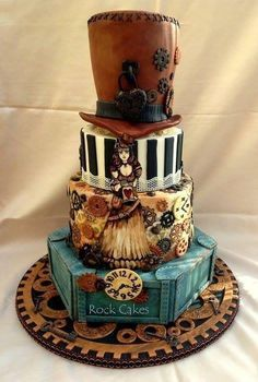 Molly McGuinness Steampunk Victorian Cake by Rock Cakes