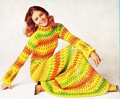 Some amazing knit/crochet fashions of the past.