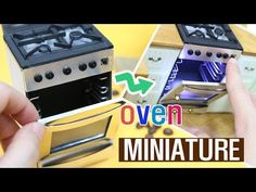 MINIATURE DIY - 4 door stainless steel refrigerator(How To Make Dollhouse Refrigerator) - hardboard paper size - high X wide X long - 1 piec. Dollhouse Tutorials, Diy Dollhouse, Dollhouse Miniatures, Miniature Tutorials, Doll House Crafts, Doll Crafts, Doll Houses, Miniature Kitchen, Miniature Dolls