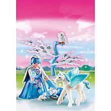 Buy Playmobil Princess Winter Fairy Princess With Pegasus Online at johnlewis.com