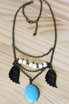 Colar Ahawi Coleção Cherokee by Madame Beh - Verão 2013-2014 Peças étnicas feito a mão com exclusividade! https://www.facebook.com/madamebeh